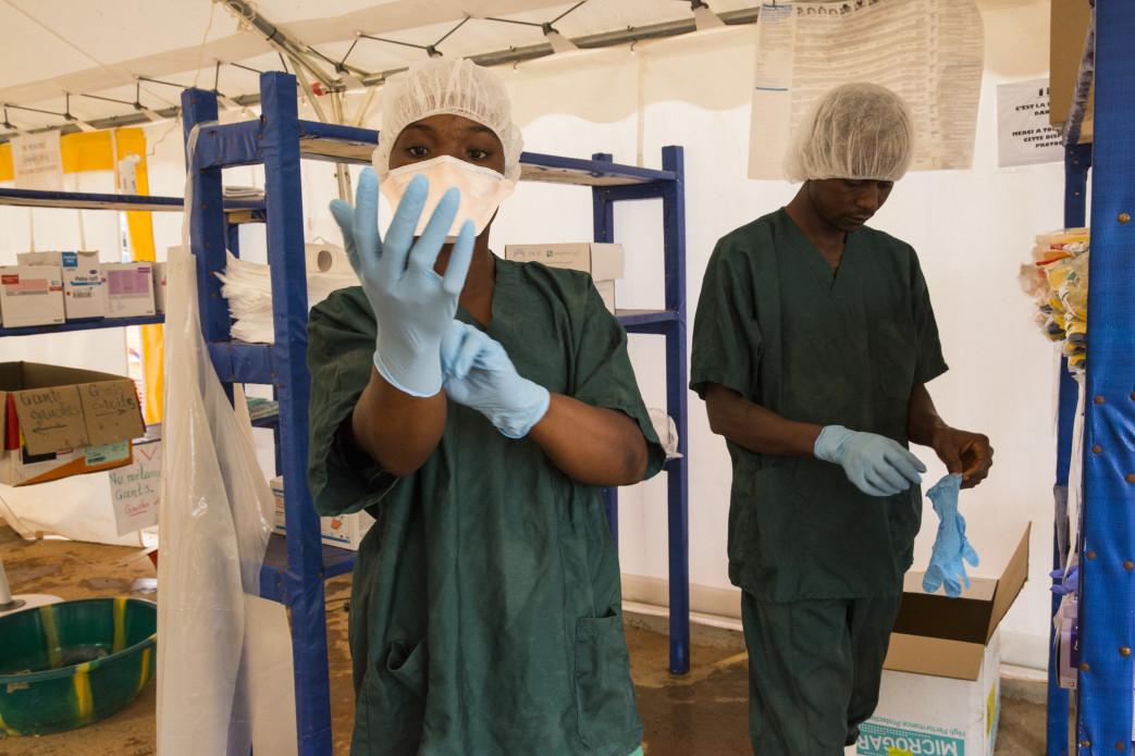 Ebola Treatment Unit (ETU) in Nízerekore, Guinea.